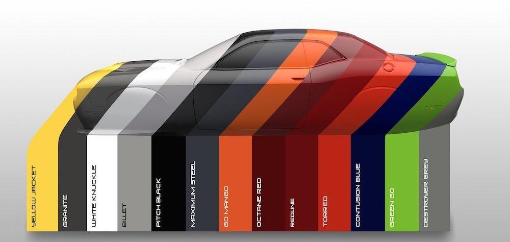 2017 Dodge Colour Chart